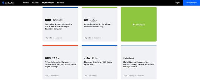 StackAdapt case studies library screenshot